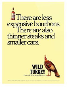 Wild Turkey bourbons - print ad